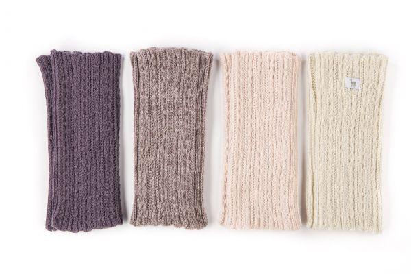 Pulswärmer aus Baby Alpaka Wolle EB01-001 - Etiqueta Blanca