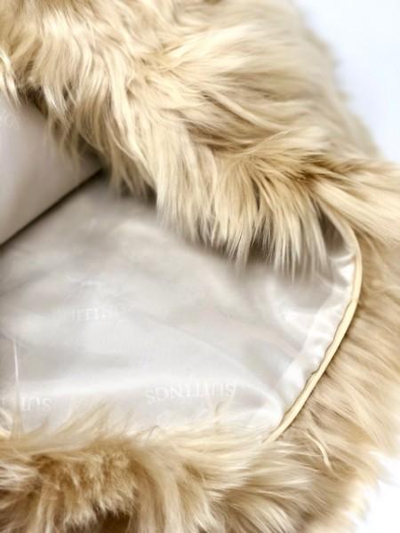 Alpakafell Kissen SURI 45 x 45 cm mit Innenfutter