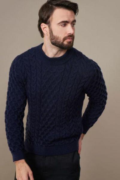 Herren Pullover mit Zopfmuster LINO