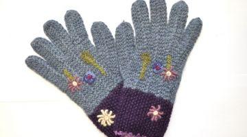 Handschuhe Blumenmuster